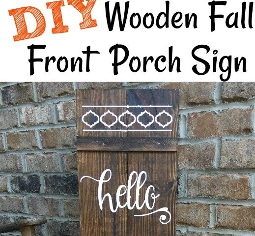 DIY Wooden Fall Front Porch Sign