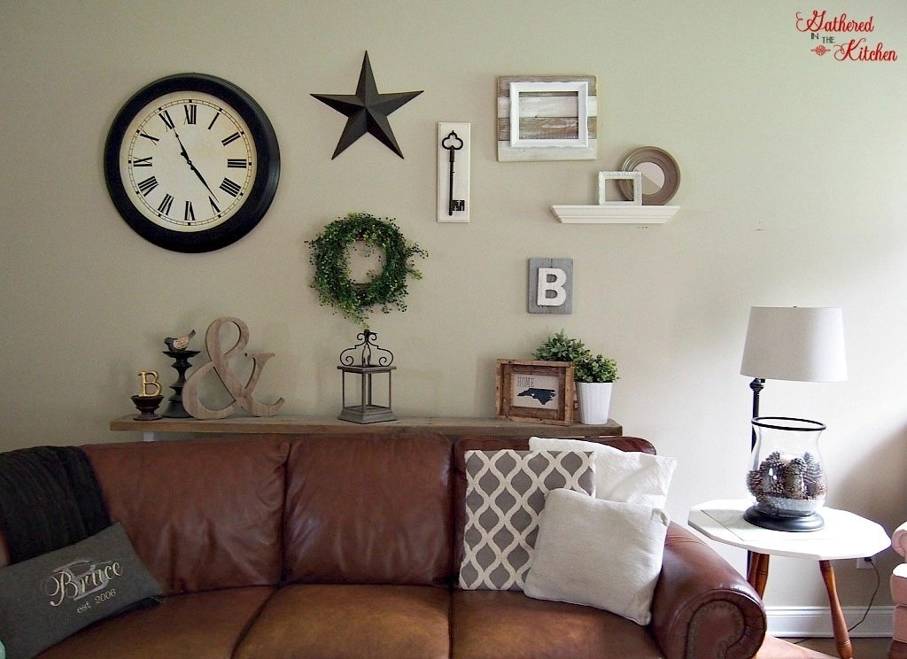 The Small Side Table Is A Really Old Antique Piece That Was Given To Me I Painted Top Clock And Star Are From Hobby Lobby