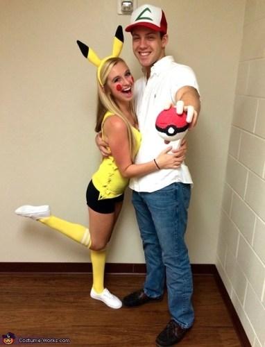Couples Halloween Costumes: Pokemon Ash & Pikachu