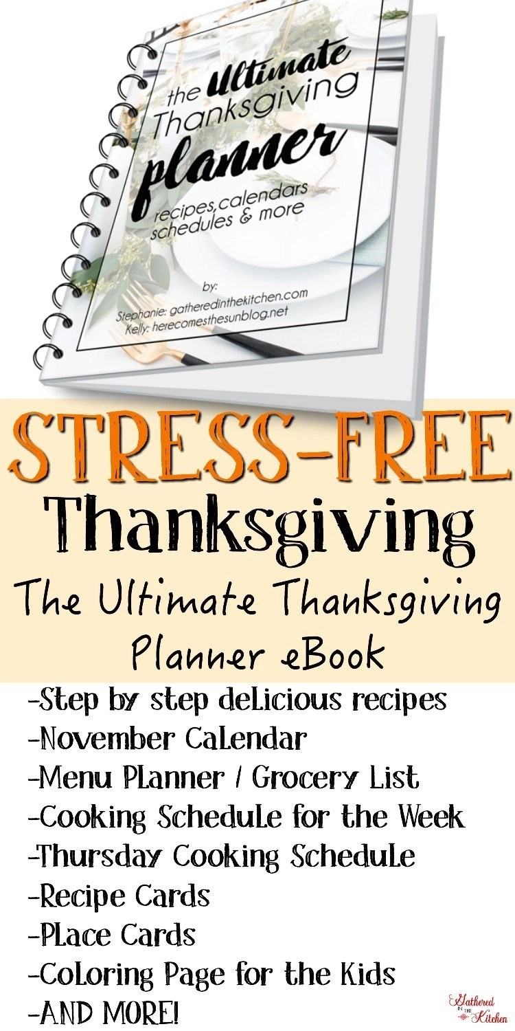 The Ultimate Thanksgiving Planner eBook & Challenge - Your guide to a STRESS-FREE holiday meal!