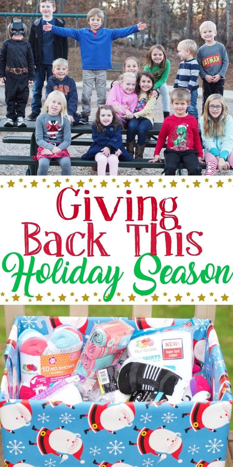 An opportunity for kids to give to those less fortunate
