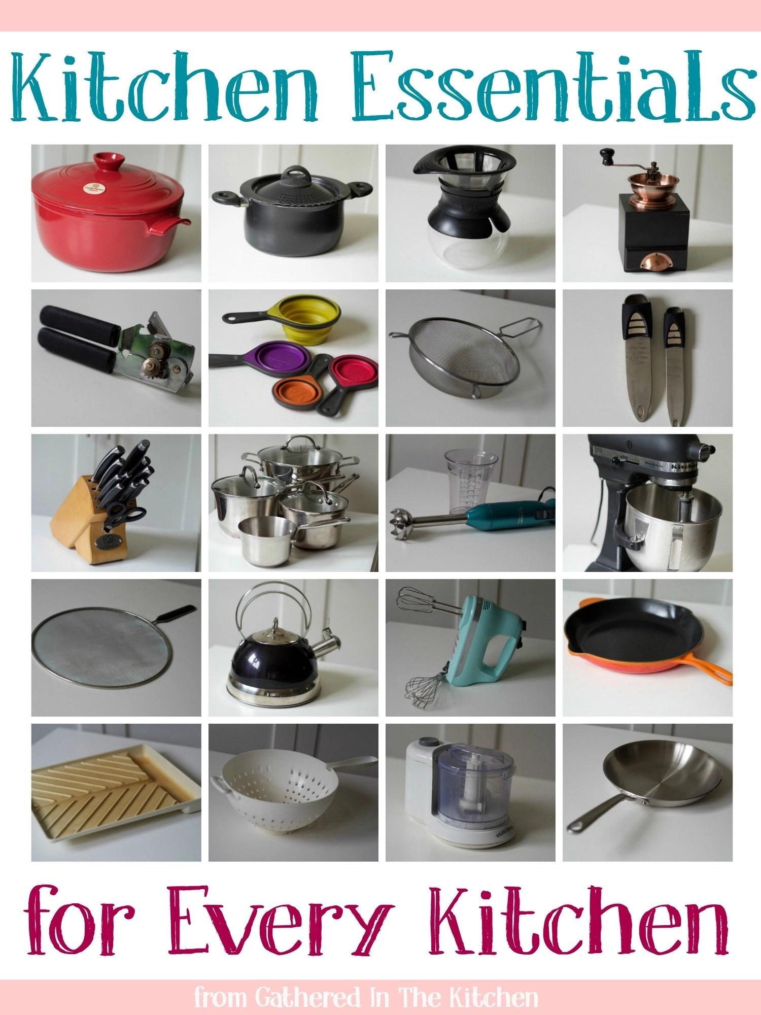 Kitchen Essentials for Every Kitchen - Gathered In The Kitchen