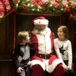 Visiting Santa at Macy's Santa Land, Chicago, Illinois