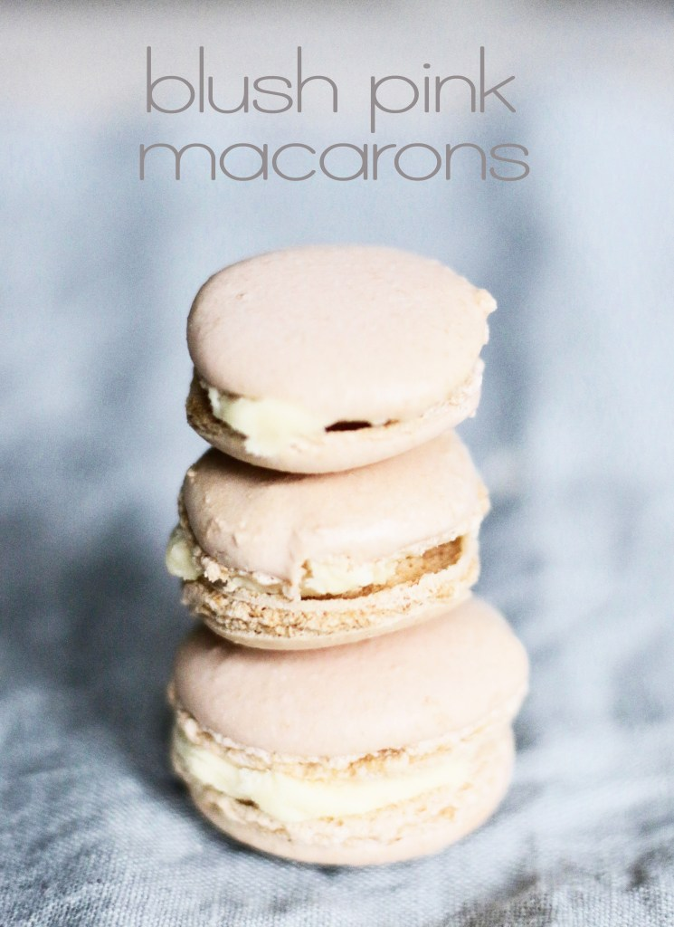 imperfectly perfect blush pink macarons.