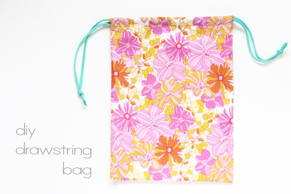 easy drawstring bag tutorial.
