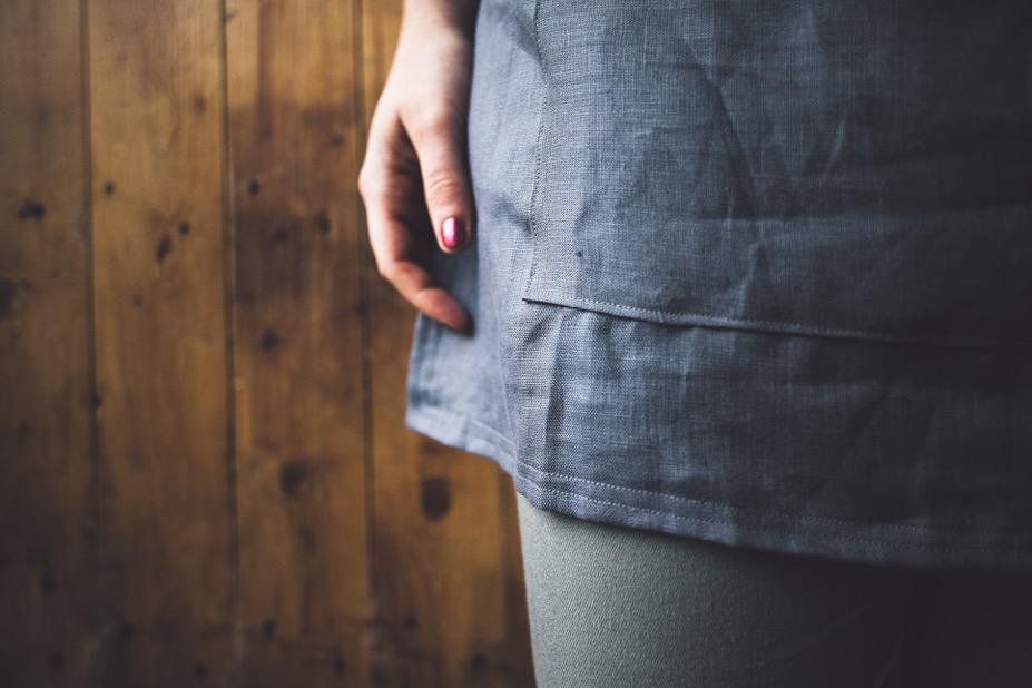 Linen apron detail