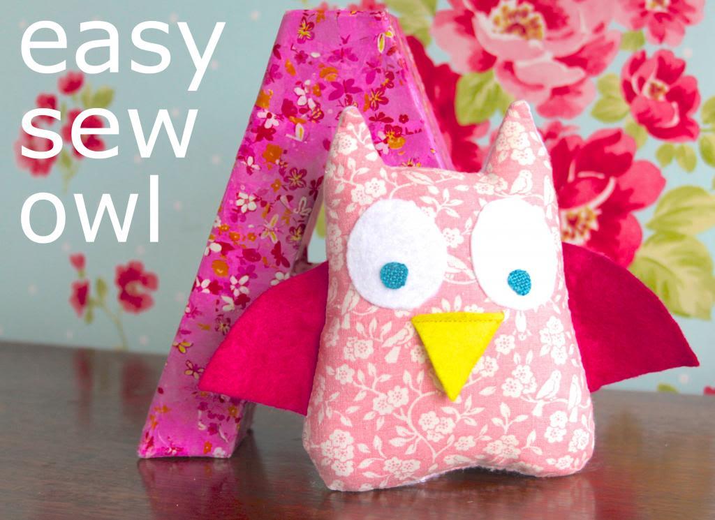 kids that sew { soft toy owl }