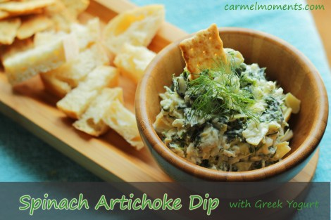 Spinach artichoke dip with greek yogurt