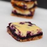 Blueberry Ribbon Cheesecake Bars