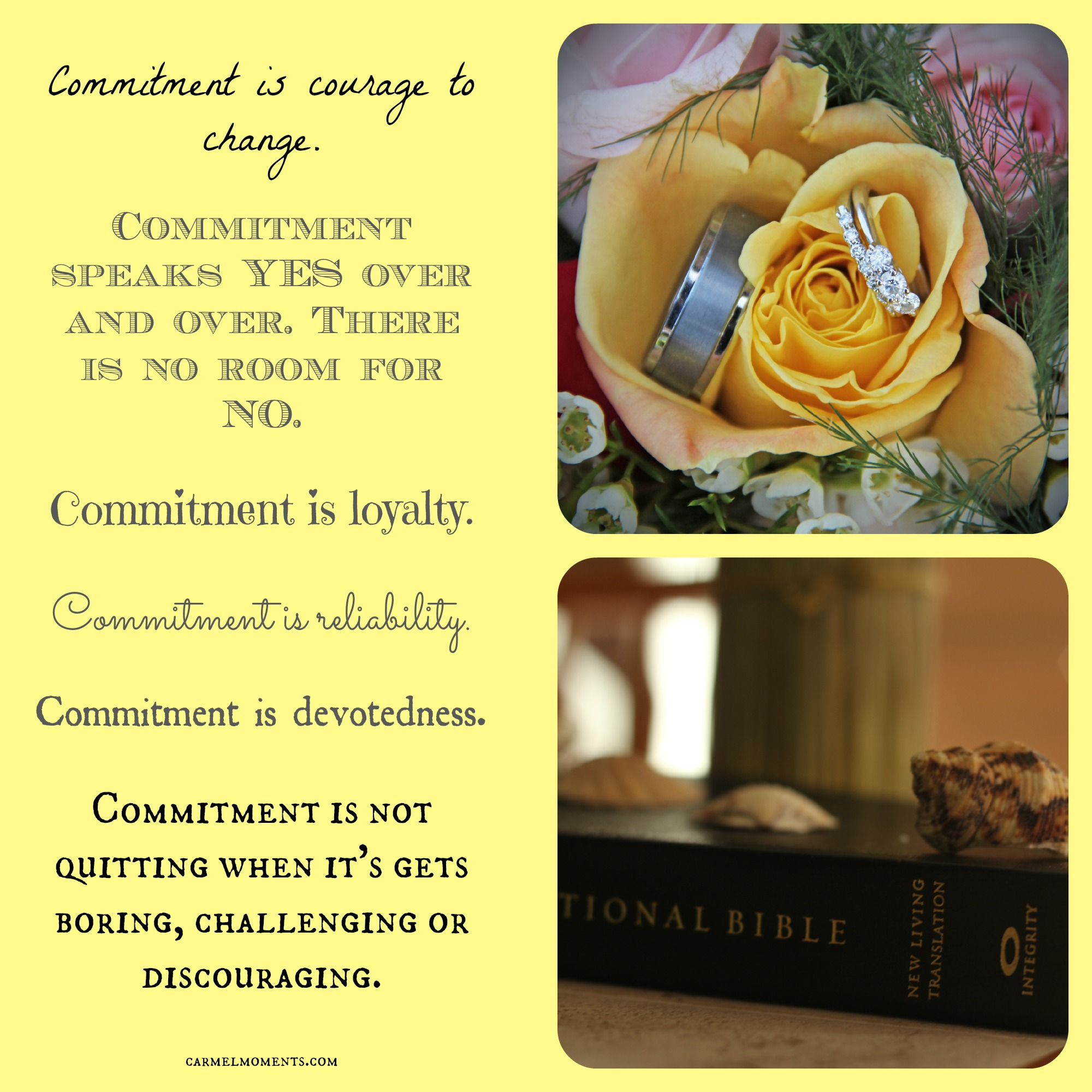 Commitment What Does It Mean To You Gather For Bread