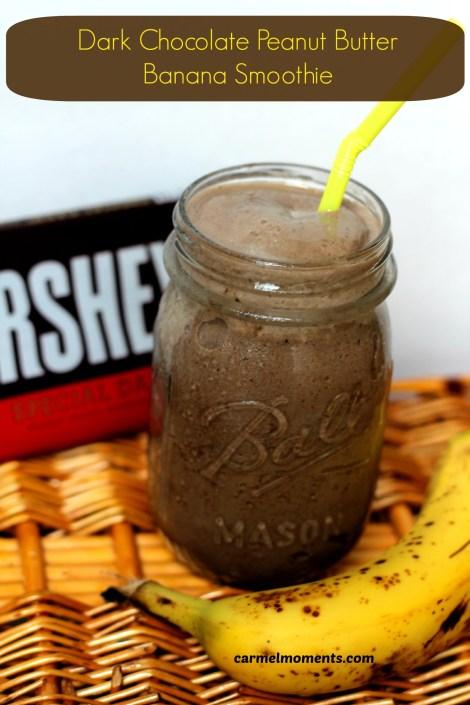 Dark chocolate pb banana smoothie | gatherforbread.com