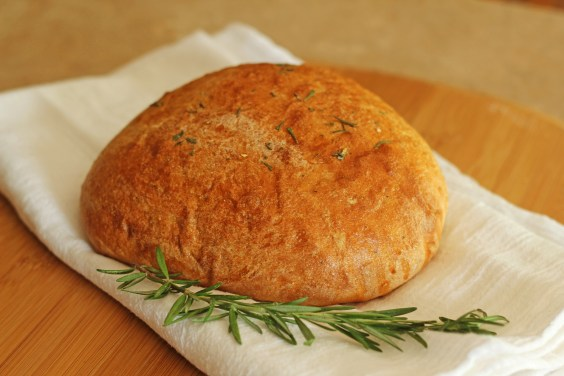 Rosemary olive oil bread gatherforbread.com