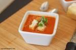 Fresh Tomato Basil Soup | carmelmoments.com