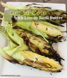 Grilled Corn with Lemon Basil Butter