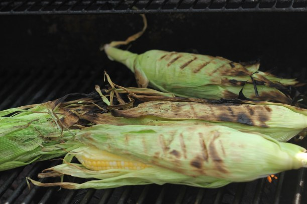 Grilled corn with lemon basil butter | gatherforbread.com