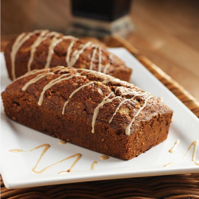 Makeover Pumpkin Bread with Maple Cinnamon Glaze