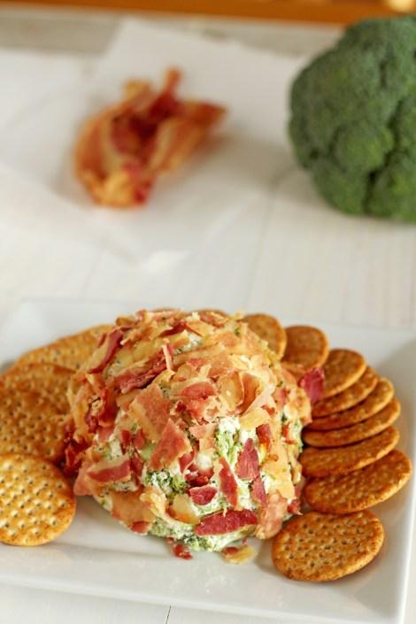 Broccoli bacon cheese ball   gatherforbread.com