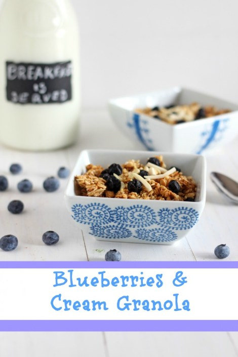 Blueberries and Cream Granola | carmelmoments