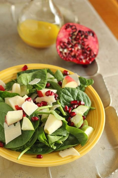 Popping Pomegranate Salad | gatherforbread.com