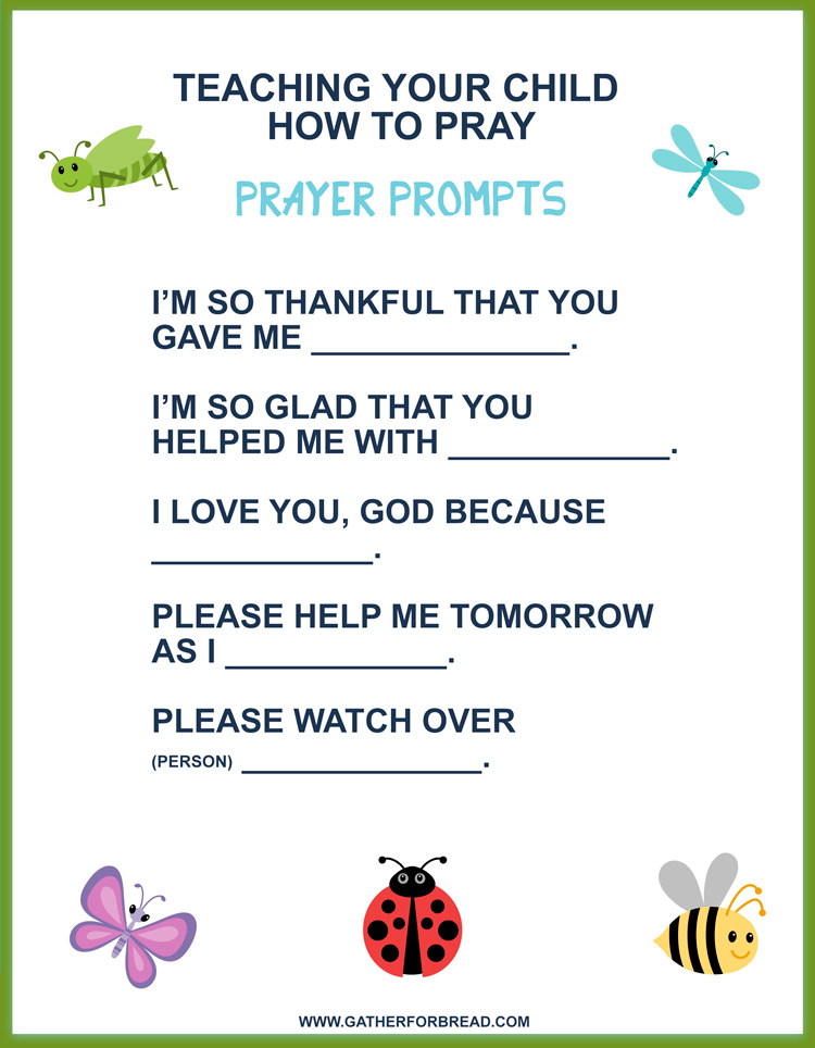 Teaching Your Child How to Pray - FREE PRINTABLE