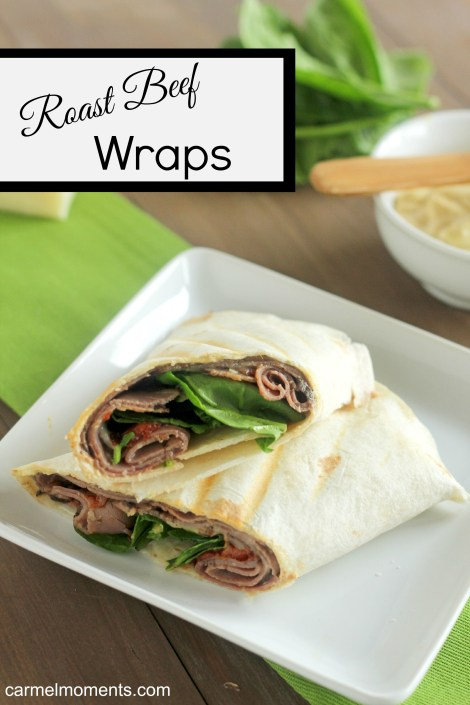 Roast Beef Wrap A classic roast beef and havarti cheese wrap. Lunch on the go.