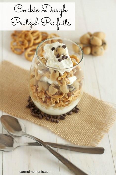 Cookie Dough Pretzel Parfaits