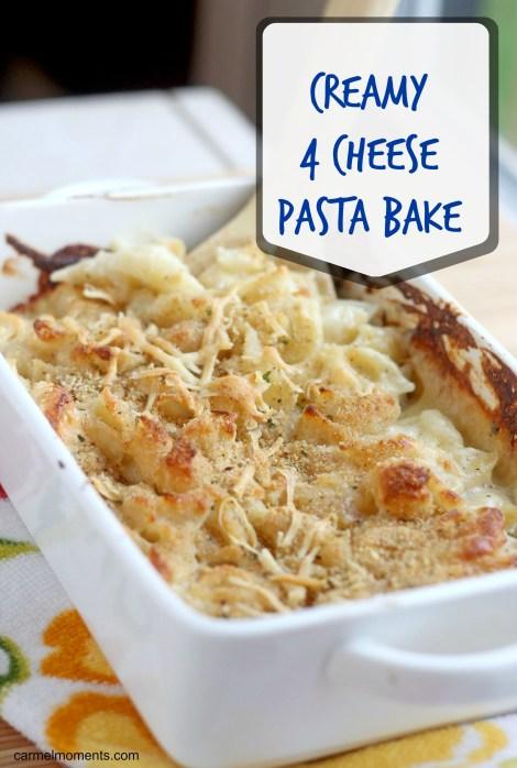 Creamy 4 Cheese Pasta Bake