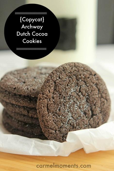 {Copycat} Archway Dutch Cocoa Cookies