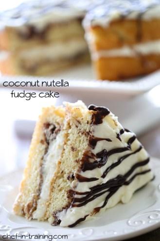 Coconut-Nutella-Fudge-Cake