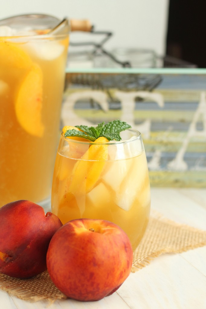 Peach Green Iced Tea