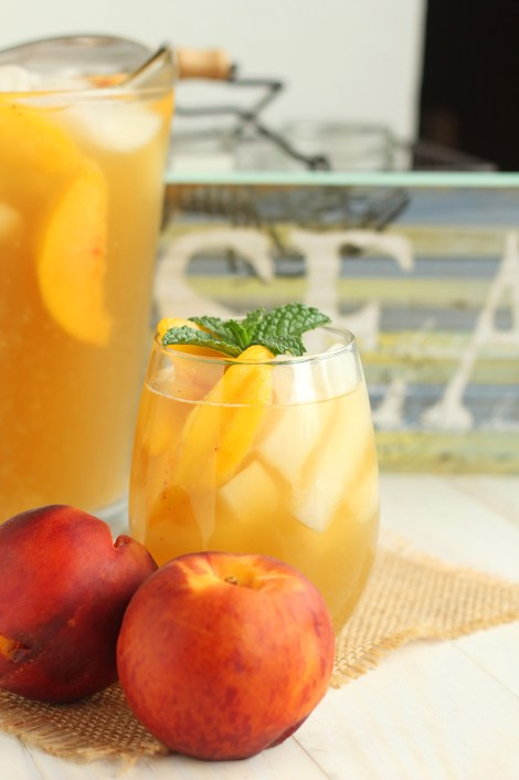 Peach Green Iced Tea