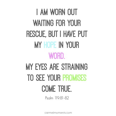 Psalm 119:81-82