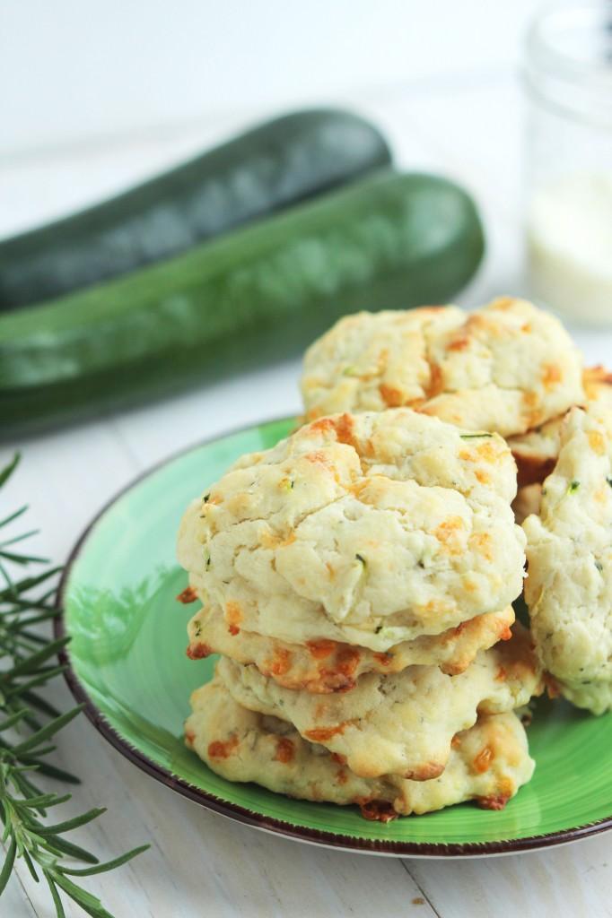 Zucchini Buttermilk Parmesan Biscuits