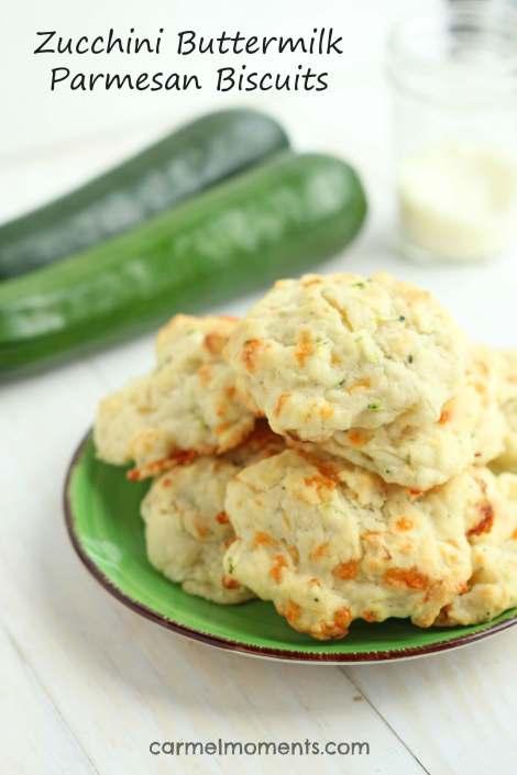 Zucchini Buttermilk Parmesan Biscuits | gatherforbread.com