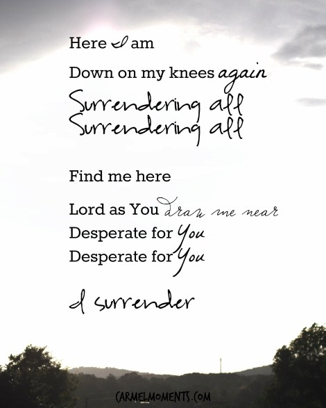 Lyrics of i surrender