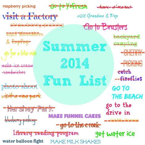 Summer Fun List 2014 August Update