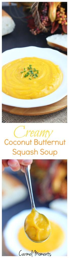 Creamy Coconut Butternut Squash Soup   @gatherforbread