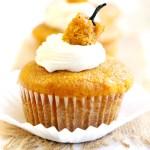 Cream Cheese Filled Pumpkin Cupcakes