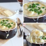Cheese Topped Creamy Cauliflower Soup