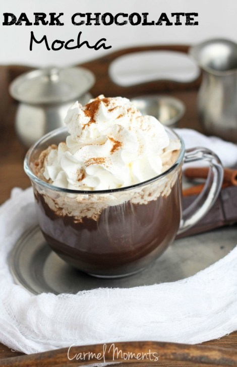 DIY Dark Chocolate Mocha -- Delicious dark chocolate mocha with an easy to make recipe. | gatherforbread.com