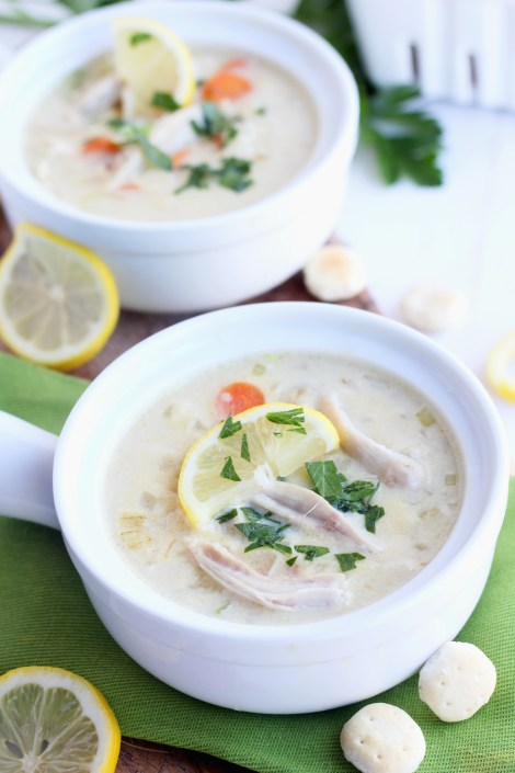 Creamy Turkey Lemon Rice Soup | gatherforbread.com