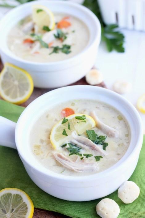 Creamy Turkey Lemon Rice Soup   gatherforbread.com