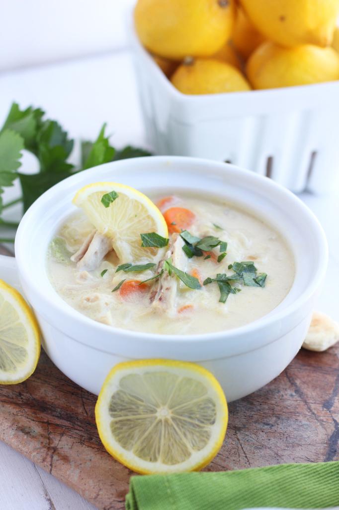 Creamy Turkey Lemon Rice Soup3
