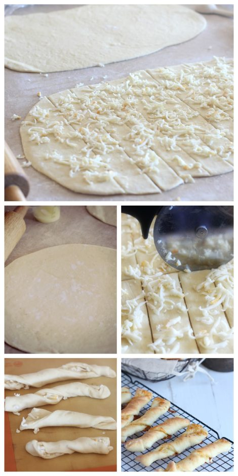 Cheddar Cheese Bread Twists