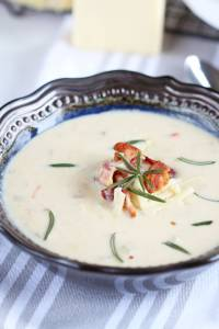 Potato Cheddar Cheese Beer Soup Delicious creamy soup boasting flavor from beer, potatoes and cheddar cheese. Perfection!