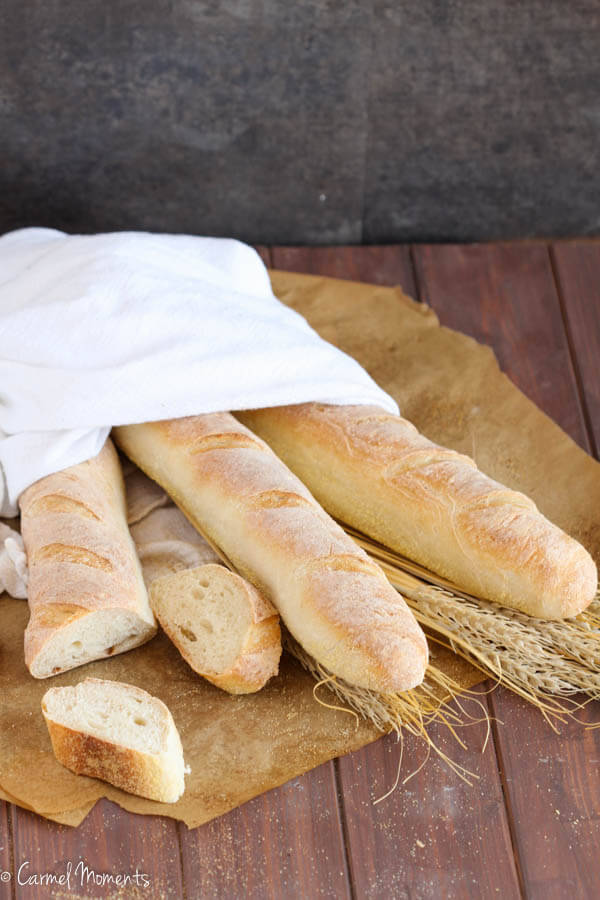Bakery Style Crusty French Bread Baguettes