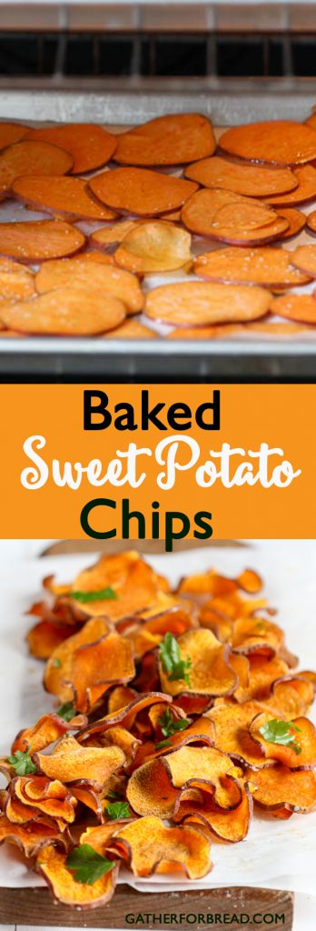 how to make healthy baked sweet potato chips