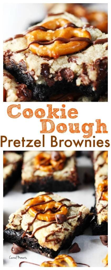Cookie dough Pretzel Brownies