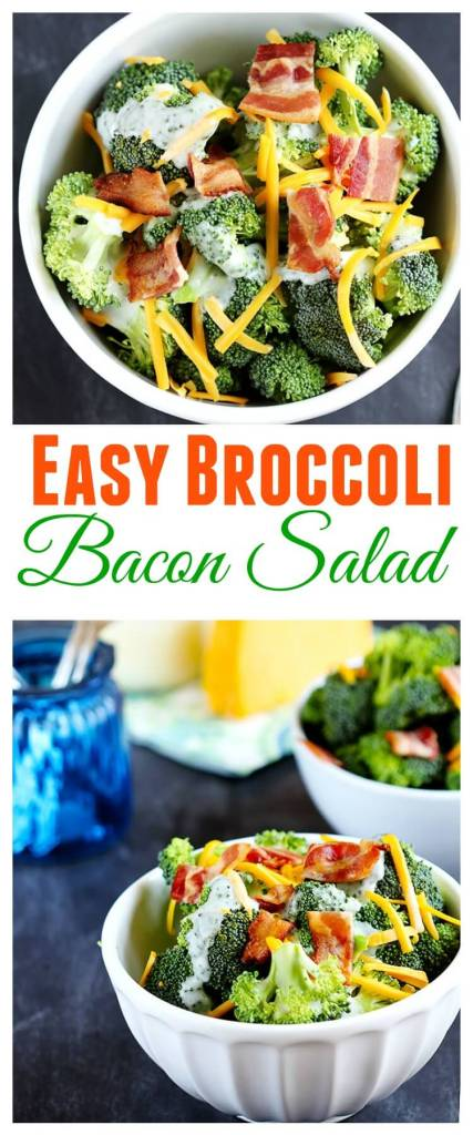 Easy Broccoli Bacon Salad