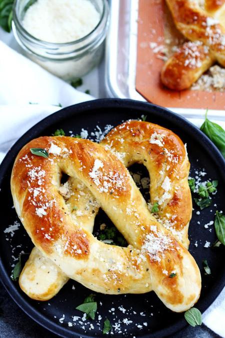Garlic Parmesan Soft Pretzels 3